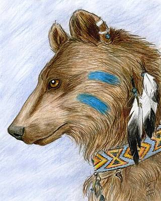 Drawing - Medicine Bear by Brandy Woods