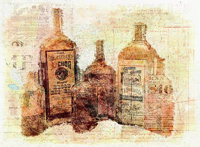 Photograph - Medicine Bottles by Nancie Rowan