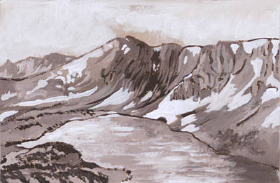 Painting - Medicine Bow Peak Historical Vignette by Dawn Senior-Trask