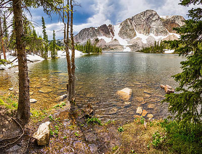 Photograph - Medicine Bow Snowy Mountain Range Lake View by James BO  Insogna