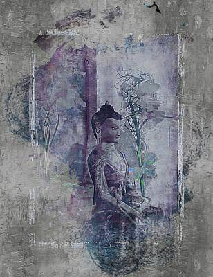Digital Art - Medicine Buddha by Dorothy Berry-Lound