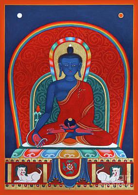 Painting - Medicine Buddha Menla by Sergey Noskov