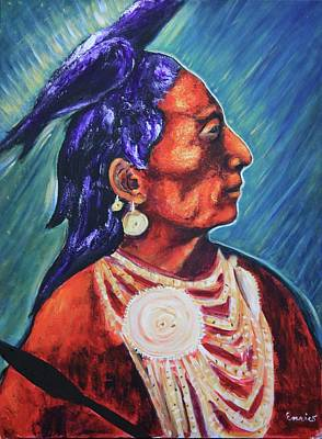 Medicine Crow After E.s. Curtis Art Print