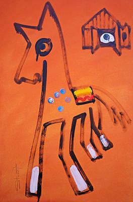 Horses Painting - Medicine Horse by Charles Stuart