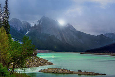 Photograph - Medicine Lake, Alberta by Patrick Boening