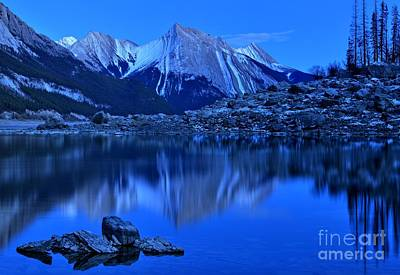 Photograph - Medicine Lake At Dusk by Adam Jewell