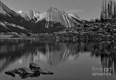 Photograph - Medicine Lake Black And White by Adam Jewell