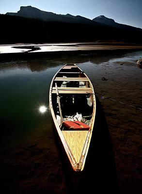 Medicine Lake In Jasper National Park Art Print