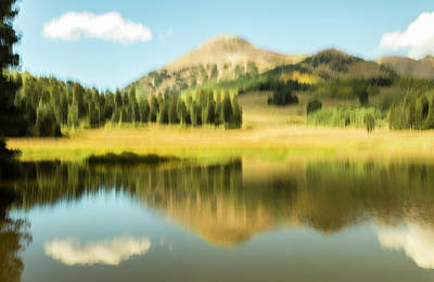 Photograph - Medicine Lake Reflection by Deborah Hughes