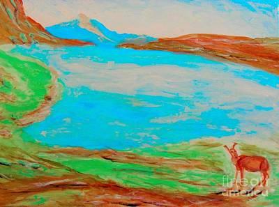 Painting - Medicine Lake by Stanley Morganstein