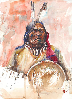 Painting - Medicine Man by Arthur Fix