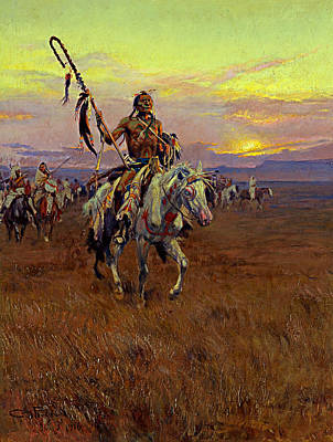 Horse Painters Painting - Medicine Man by Charles Marion Russell
