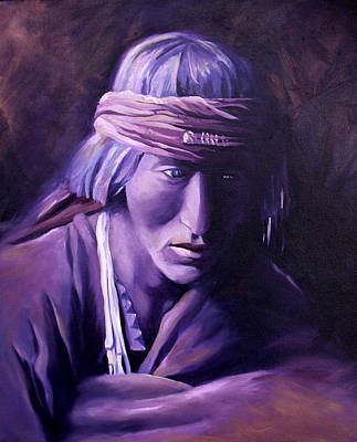 Painting - Medicine Man by Nancy Griswold