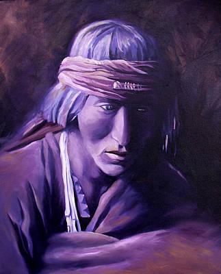 Hopi Indian Painting - Medicine Man by Nancy Griswold