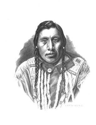 Pencil Native American Drawing - Medicine Pipe by Lee Updike
