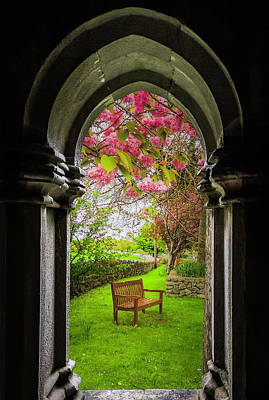 Photograph - Medieval Abbey In Irish Spring by James Truett