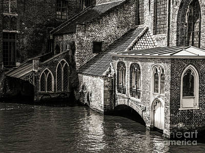 Photograph - Medieval Architecture Of Bruges by Lexa Harpell