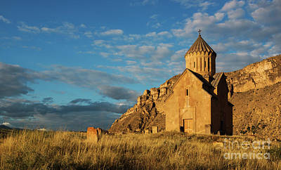 Photograph - Medieval Areni Church Under Puffy Clouds, Armenia by Gurgen Bakhshetsyan