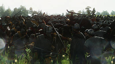 Photograph - Medieval Army In Battle - 12 by Andrea Mazzocchetti