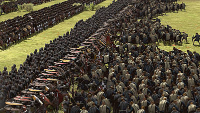Painting - Medieval Army In Battle - 15 by Andrea Mazzocchetti
