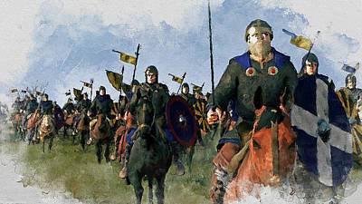 Painting - Medieval Army In Battle - 20 by Andrea Mazzocchetti