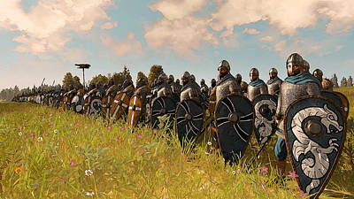 Painting - Medieval Army In Battle - 24 by Andrea Mazzocchetti