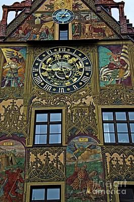 Medieval Astronomical Clock Of The City Hall Of Ulm Original by Elzbieta Fazel