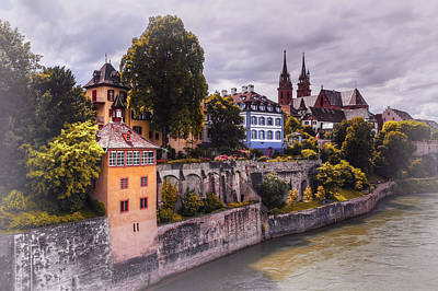 Charming Town Photograph - Medieval Basel Switzerland  by Carol Japp