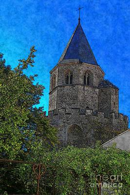 Digital Art - Medieval Bell Tower 1 by Jean Bernard Roussilhe
