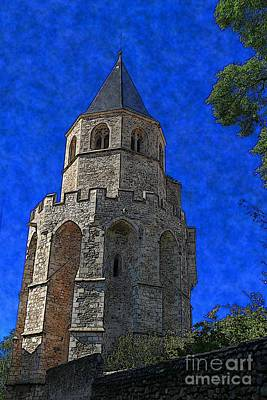 Digital Art - Medieval Bell Tower 2 by Jean Bernard Roussilhe