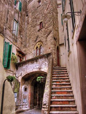 Medieval Borgo In Nettuno Art Print