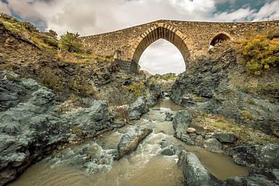 Photograph - Medieval Bridge  by Emilio Messina