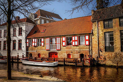 Medieval Bruges  Art Print