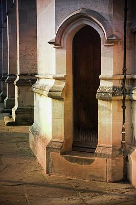 Entrance Door Photograph - Medieval Building Exterior  by Tom Gowanlock