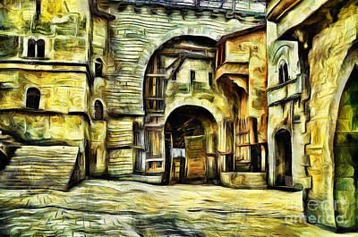 Painting - Medieval Castle by Milan Karadzic