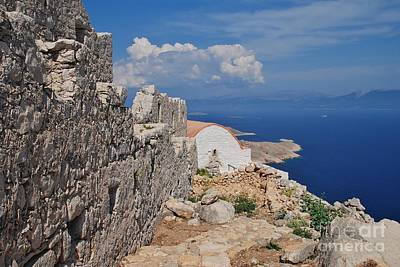 Photograph - Medieval Castle On Halki by David Fowler