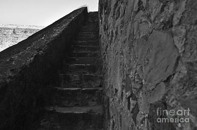 Staircase Photograph - Medieval Castle Staircase by Angelo DeVal