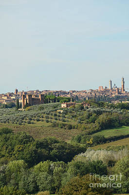 Medieval City Of Siena In Italy Art Print by DejaVu Designs