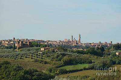 Medieval City Of Siena In Tuscan Countryside Art Print by DejaVu Designs