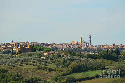 Medieval City Of Siena In Tuscany Art Print by DejaVu Designs