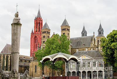 Maastricht Wall Art - Photograph - Medieval Cityscape by Patricia Hofmeester