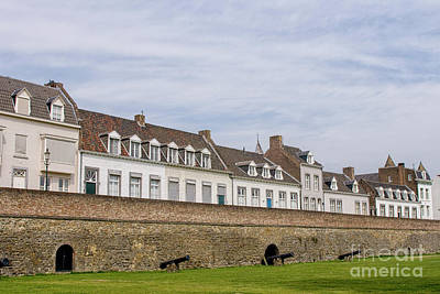 Maastricht Wall Art - Photograph - Medieval Citywall With Canons by Patricia Hofmeester