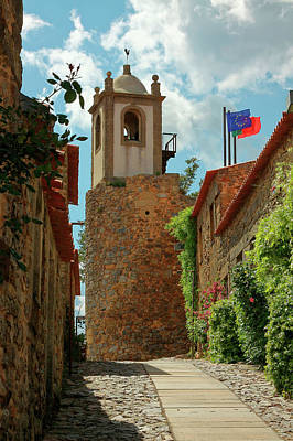 Photograph - Medieval Clock Tower by Sally Weigand