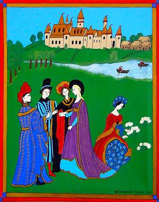 Painting - Medieval Conversation by Stephanie Moore