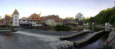 Photograph - Medieval Czech Republic Town And River by Jeff Schomay