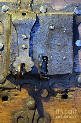 Photograph - Medieval Doorlock by Michelle Meenawong