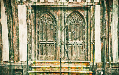 Medieval Doors Print by Tom Gowanlock