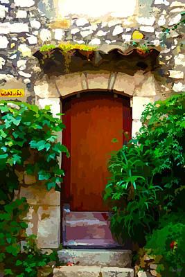 Medieval Entrance Digital Art - Medieval Doorway, Eze by Brian Shaw