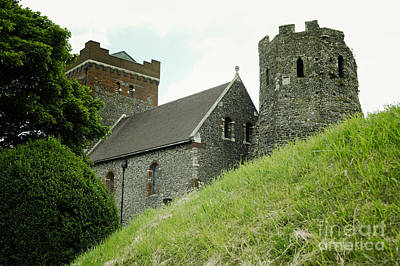 Ancient Photograph - Medieval Dover Castle On The Hill Above Dover, United Kingdom by Dani Prints and Images