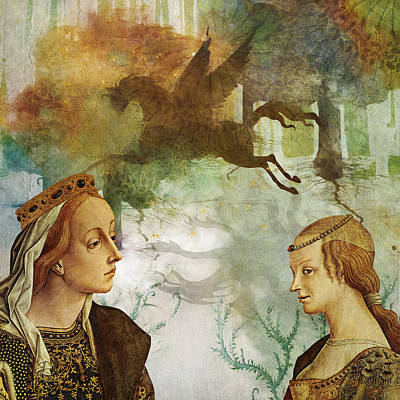 Pegasus Mixed Media - Medieval Dreams by Terry Fleckney